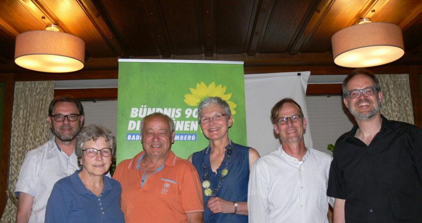 Zu sehen sind die neu gewählten Vorstandsmitglieder des KV Wangen